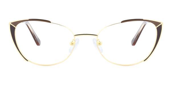 M1002 Pamella Cateye brown glasses