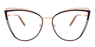 M1003 SUE Cateye brown glasses