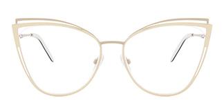 M1003 SUE Cateye yellow glasses