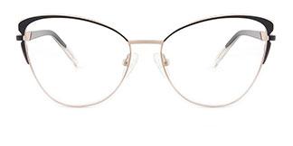 M1005 Christina Cateye black glasses