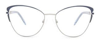 M1005 Christina Cateye blue glasses