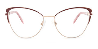 M1005 Christina Cateye red glasses
