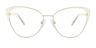 M1005 Christina Cateye white glasses