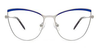 M1006 Alina Cateye blue glasses
