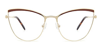 M1006 Alina Cateye brown glasses