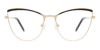 M1006 Alina Cateye black glasses