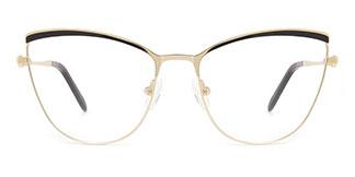 M1006 Alina Cateye black glasses