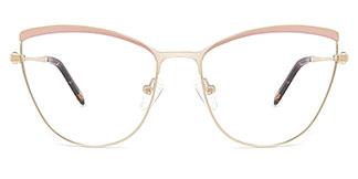 M1006 Alina Cateye pink glasses