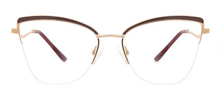 M1016 April Cateye brown glasses
