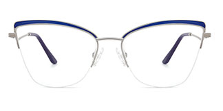 M1016 April Cateye blue glasses