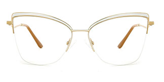M1016 April Cateye white glasses