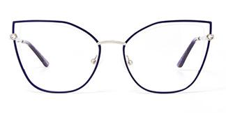 M1026 Victoria Cateye blue glasses
