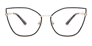 M1026 Victoria Cateye black glasses