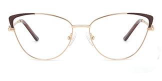 M1033 Serenity Cateye brown glasses