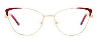 M1033 Serenity Cateye red glasses