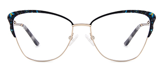 M1038 Davida Cateye black glasses