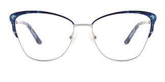 M1038 Davida Cateye blue glasses