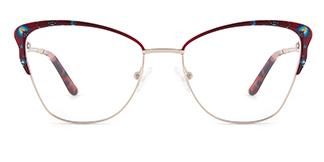 M1038 Davida Cateye red glasses
