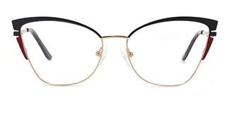 M1039 Alexa Cateye black glasses