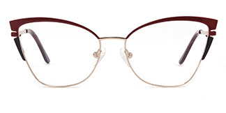 M1039 Alexa Cateye pink glasses