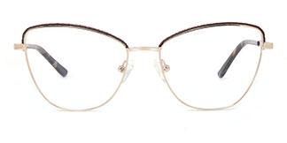 M1045 Vivian Cateye brown glasses