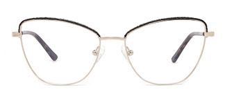 M1045 Vivian Cateye black glasses