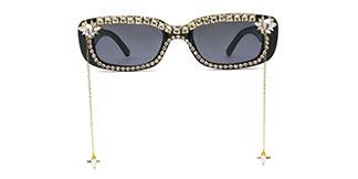 M124 Appollo Rectangle black glasses