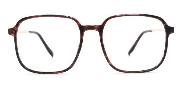 M6001 Nan Geometric tortoiseshell glasses