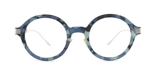 M60020 Claudia Round blue glasses