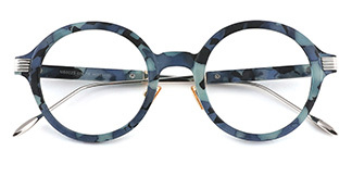 M60020 Claudia Round blue glasses