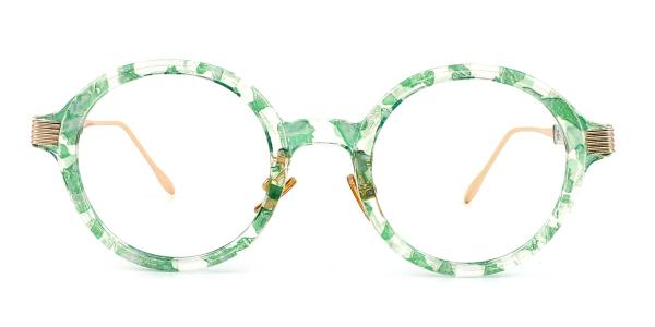 M60020 Claudia Round green glasses