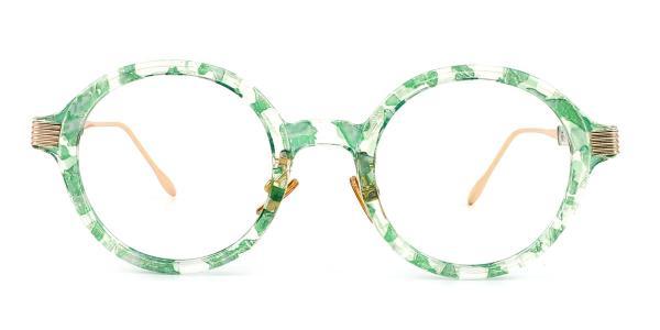 M60020 Claudia Round green glasses