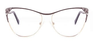 M6813 Audrey Cateye brown glasses