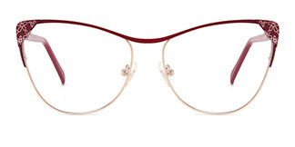M6813 Audrey Cateye red glasses
