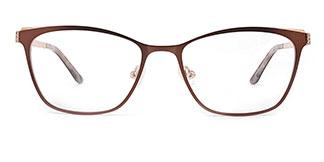 M8034 Beata Rectangle brown glasses