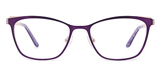 M8034 Beata Rectangle purple glasses