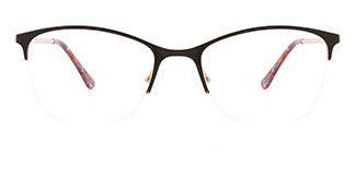 M8214 Cloris Rectangle brown glasses