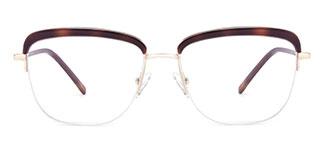 M8608 Riley Cateye brown glasses