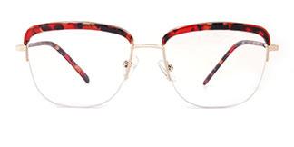 M8608 Riley Cateye red glasses