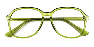 OF8852 Alfreda Oval green glasses