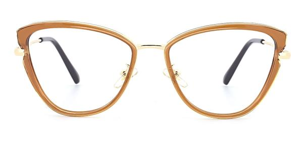 OR036 Palmira Cateye brown glasses