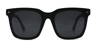 P017 Ferris Rectangle black glasses