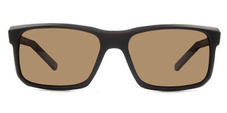 P1 Flynn Rectangle brown glasses