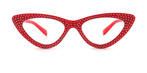 PD63 Margot Cateye red glasses