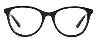PY3019 Alvina Oval black glasses