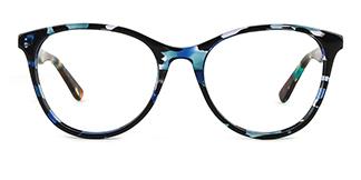 PY3019 Alvina Oval blue glasses
