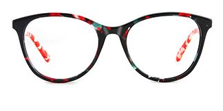 PY3019 Alvina Oval red glasses
