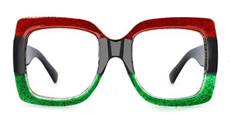 Q120 Whitney Rectangle red glasses