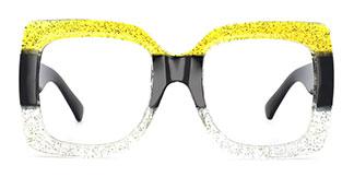 Q120 Whitney Rectangle yellow glasses