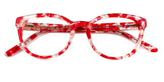 R3027 Anstice Oval red glasses